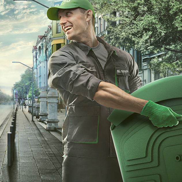 Сортировка и складирование мусора